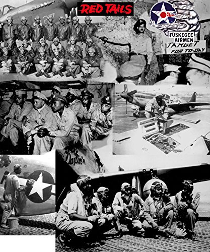 XL Poster 20x24 Collage Tuskegee Airmen Red Tail African-Americans WWII Hereos