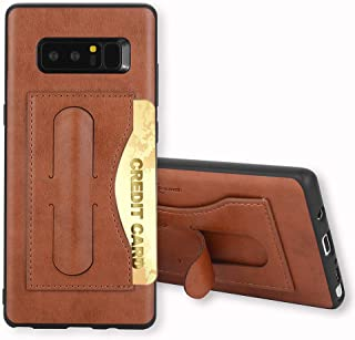 Galaxy Note 8 Case,Phone Cases Wallet Leather with Credit Card Holder Slot Kickstand Stand Heavy Duty Hard Rugged Shockproof Protective Cover for Samsung Note8 Women Girls Men Brown