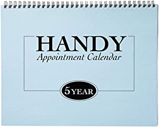 """5-Year Appointment Calendar Planner, Monthly Schedule Organizer, Flip Calendar Diary with Tabs, Spiral Bound Top, 8 ½"""" Wid... photo"""
