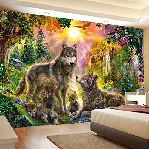 KHKJ Tapiz psicodélico para Colgar en la Pared, Animal Tribal, Tortuga, Lobo, decoración del hogar, Tapiz de Playa, Tapiz A11 95x73cm