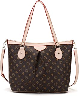 Womens Tote Bags Soft Leather Large Capacity Shoulder Bags Work Laptop for Ladies Handbags with Wallet 2pcs Set