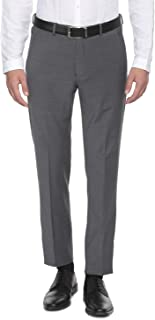 Louis Philippe Men's Straight Fit Formal Trousers