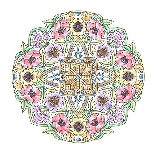 『flower mandalas 心を整える、花々のマンダラぬりえ』の5枚目の画像