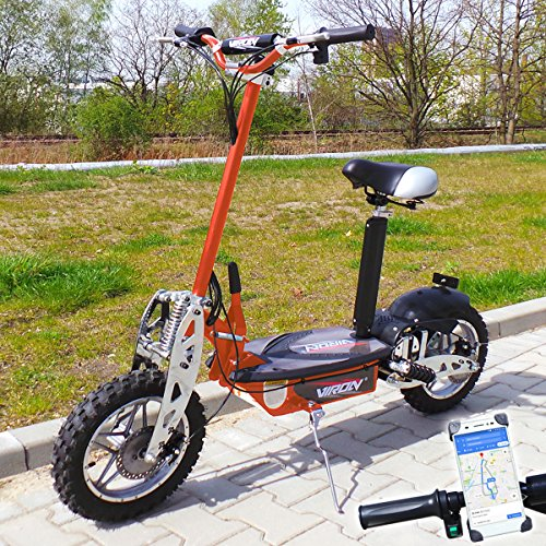 Viron Elektro Scooter 1000 Watt E-Scooter Roller 36V / 1000W Elektroroller V.7 (orange)