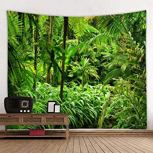Alfombra de playa montada en la pared de la tela del árbol de sombra verde colchón de la decoración del hogar
