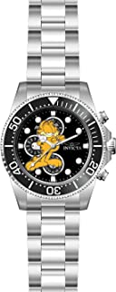 Invicta Men's Character Collection Garfield Analog Quartz Watch with Stainless Steel Strap, Silver, 21.3 (Model: 27419)