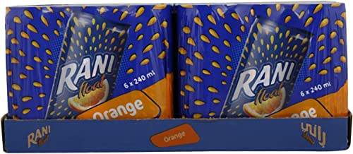 Rani Float Orange Fruit Juice with Real Fruit Pieces in Can, 24 x 240 ml