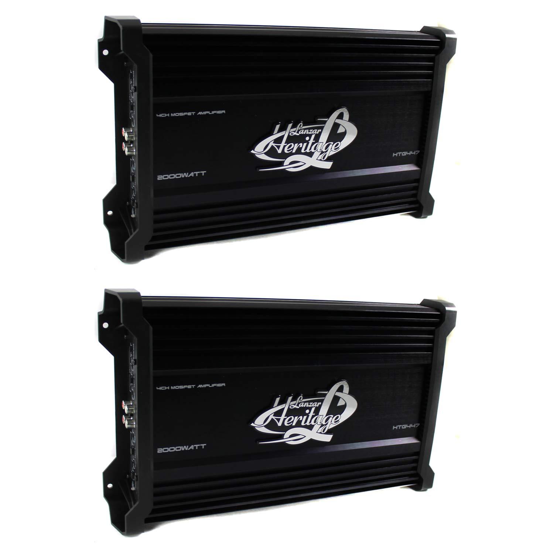 LANZAR 2000W 4 Channel Car Digital Amplifier Power Amp Stereo MOSFET (2 Pack)