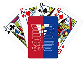 DIYthinker Philippines Country Flag Name Poker Playing Card Tabletop Board Game Gift