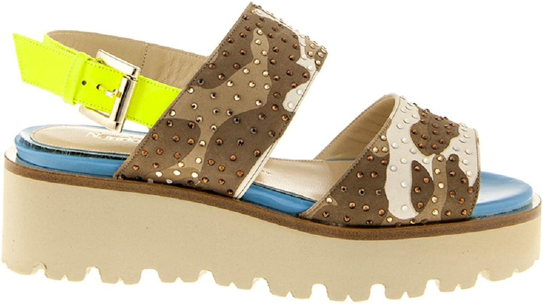 NANDO MUZI 6067 Platform Multicolord Leather Italian Designer Women Sandals