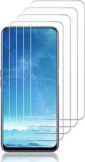 J&D Kompatibel för OPPO Realme 7 5G skärmskydd i glas (4-pack), inte full täckning, härdat glas HD klart ballistiskt glas ...