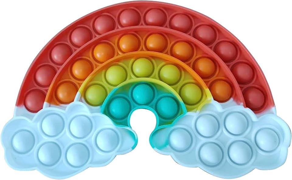 Incorrra Fidget Toy Kinderspielzeug Geschenk Sensory Simple Dimple Fidget Toys für Kinder Mädchen Jungen Unter 5 Euro