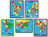 A Broader View 659 Continent Puzzle Combo Pack (171 Pieces in 5 Puzzles)