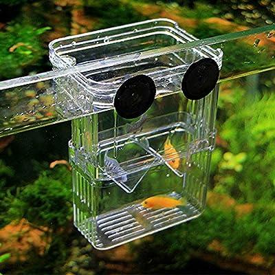 LYX-fashionclus Aquarium Fisch Züchter Aufzucht Trap Box für fischbrutstätte