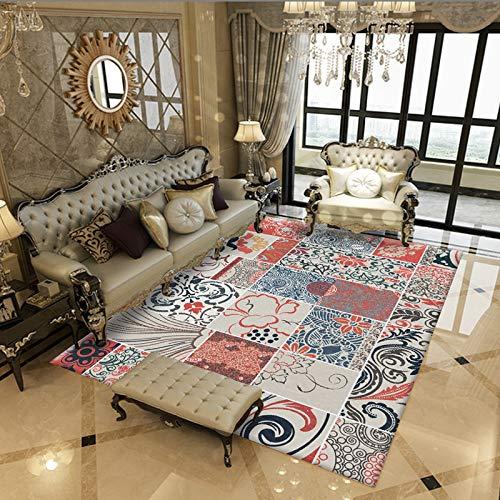 GBFR Alfombra Grande   Sala de Estar Alfombra Vintage   Alfombra Impresa Sala de Estar Alfombra Dormitorio Alfombra Lavable 140 * 200CM