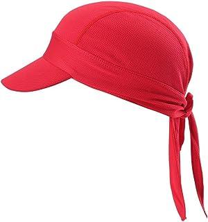 Arcweg Sports Headband Men Women with Brim Sun UV Protection UPF 50+ Cycling Cap Summer Hat Adjustable Tie Non-Slip Bandan...