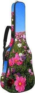 Bennigiry Kosmos blomma äng rosa blomma gitarrväska akustisk gitarr spelning väska gitarr bärväska för gitarrist
