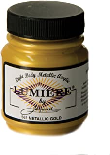 Jacquard Products 2.25 oz Lumiere Metallic Acrylic Paint, Metallic Gold