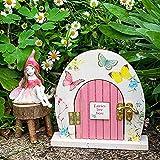 lefeindgdi Porte de fée miniature en bois pour jardin | Accessoires de chambre de filles, cadeau pour enfants, lutins, fêtes sur le thème des bois, décorations de fête