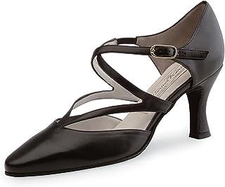 Werner Kern Femmes Chaussures de Danse Fabiola 6.5 - Cuir Noir - 6.5 cm