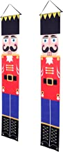 TOYMYTOY Christmas Nutcracker Banner Hanging Porch Signs Soldier Nutcracker Decorations for Wall Front Door Yard Porch Gar...
