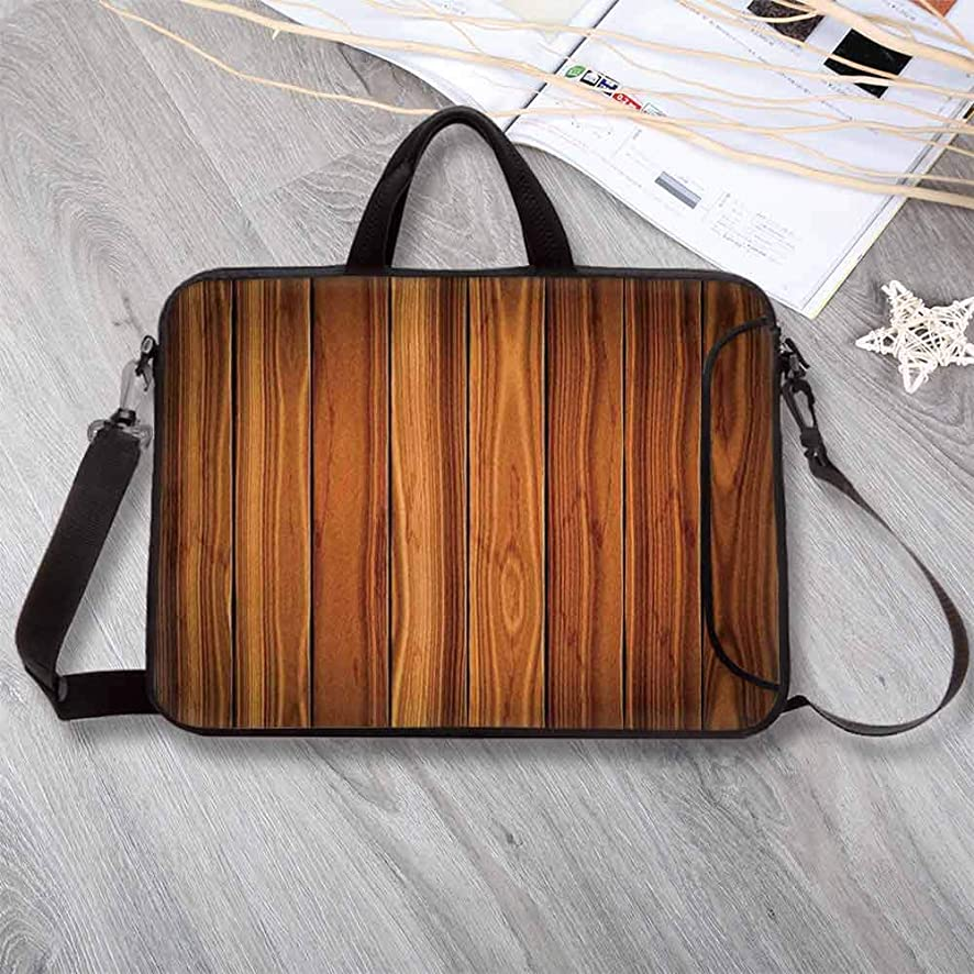 """Rustic Home Decor Printing Neoprene Laptop Bag,Tall Decorative Bound Wood Line Timber Trunk Red Maple Stem Birch Branch Laptop Bag for 10 Inch to 17 Inch Laptop,15.4""""L x 11""""W x 0.8""""H"""