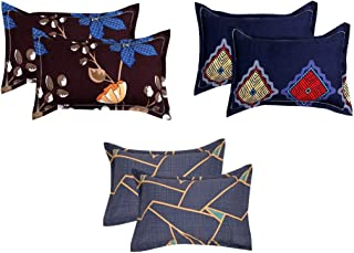 "VAS COLLECTIONS® 105 TC 100% Cotton King Size Printed Pillow Cover Combo -20""X30"" Inches,Set of 6 (Multicolours )"