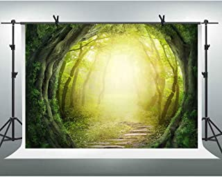 FHZON Dreamy Magical Jungle Forest Photography Backdrops 10x7ft Fantasy Scene Background Party Wallpaper Photo Booth Props GEFH376