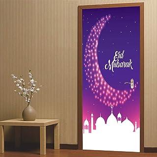 Sticker Porte Autocollants De Porte Musulmane, Stickers Muraux De Décoration Intérieure, Peintures Murales Imperméables Am...