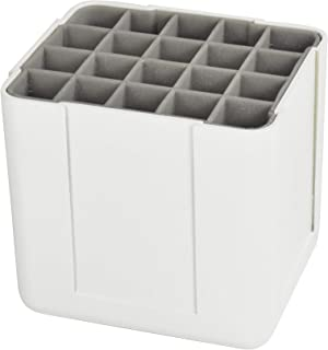 "Deflecto Interlocking Marker Organizer, Desk and Craft Organizer, Stores up to 20 Markers, White, 4 1/4""W x 4""H x 4 3/8""D ..."