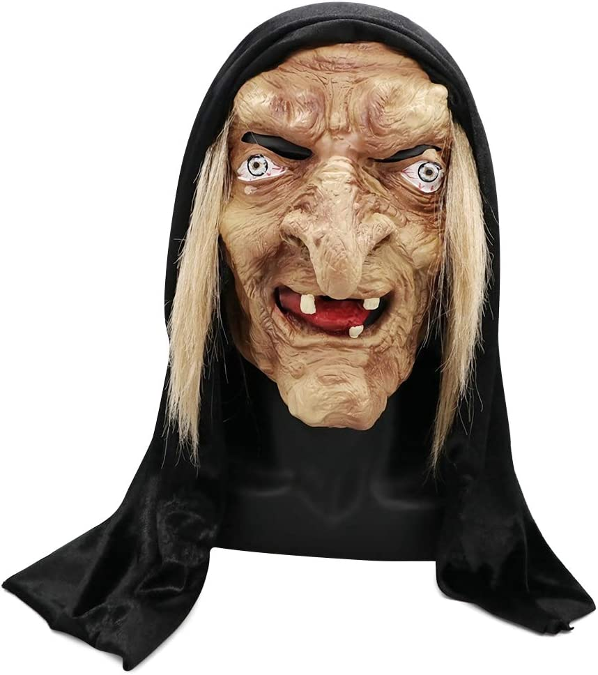 Amazon.com: Horror Devil Witch Mask, Halloween Cosplay Mask, Creepy Costume  Party Cosplay Props Brown : Toys & Games