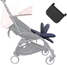 Reposapiés para carrito de bebé, extensión para piernas, accesorio para cochecito de bebé, tabla plegable y ligera de 8.2 pulgadas, de color negro