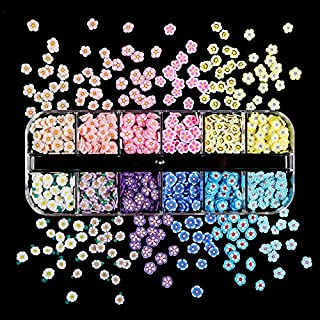 10bag Lente Zomer Bloemen Nail Glitter Flakes Sequin Clay Slakken Kleurrijke Zacht Nail Art Paillette Manicure 3D Nail Art...