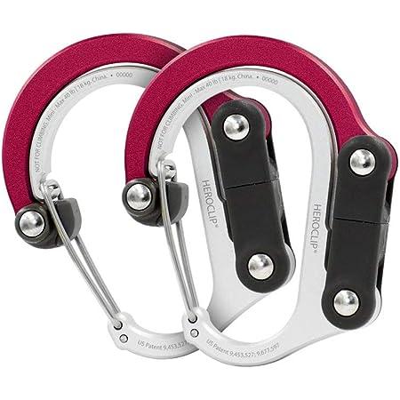Medium HEROCLIP Hybrid Gear Clip Non-Locking Carabiner Rotating Hook Clip