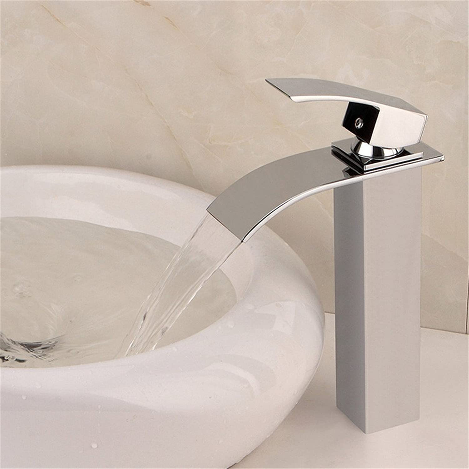MIAORUI High section four square all copper waterfall tap cold and hot single wrench wash face basin faucet