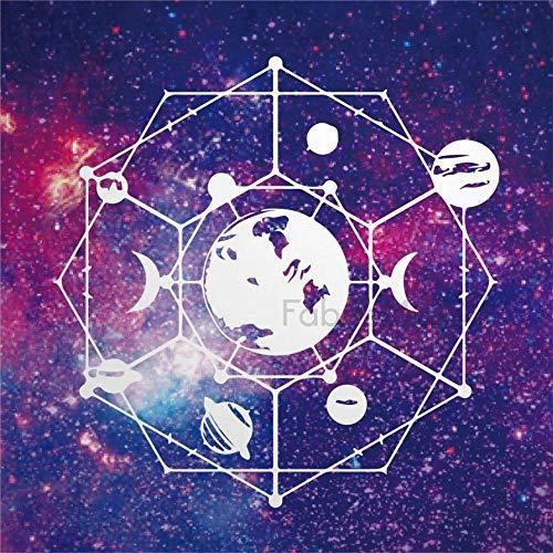 daoyiqi Juego de pegatinas decorativas para azulejos, diseño de cielo con ilustración espacial, ciencia, galaxia, 10,16 x 10,16 cm, adhesivo de vinilo para suelo, 12 unidades
