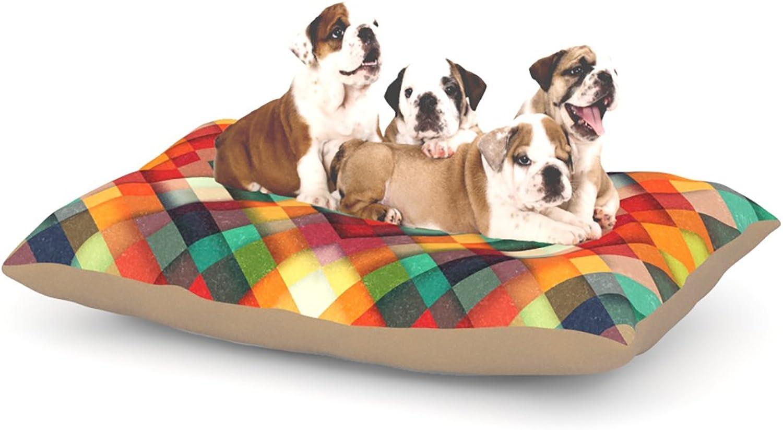 Kess InHouse Danny Ivan bluerry Lines  Fleece Dog Bed, 50 by 60 , Multicolor
