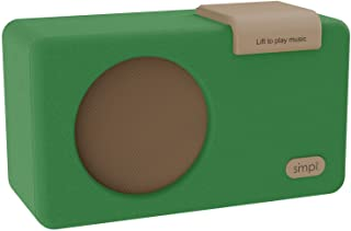 SMPL One-Touch Music Player, Audiobooks + MP3, Quality-Sound, Durable Wooden Encloser with Retro Look, 4GB USB with 40 Nos...