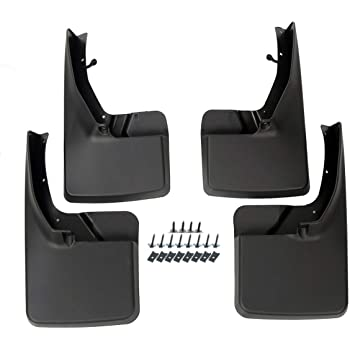Heavy Duty Front and Rear Mudflaps Splash Guards 4Piece// Set D-Lumina Mud Flaps Fit Dodge Ram 1500 2019 2020 with OEM Fender Flares Only