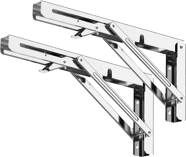 Folding Shelf Award-winning store Brackets 24 Workbench 2pcs Garage Cheap Inch