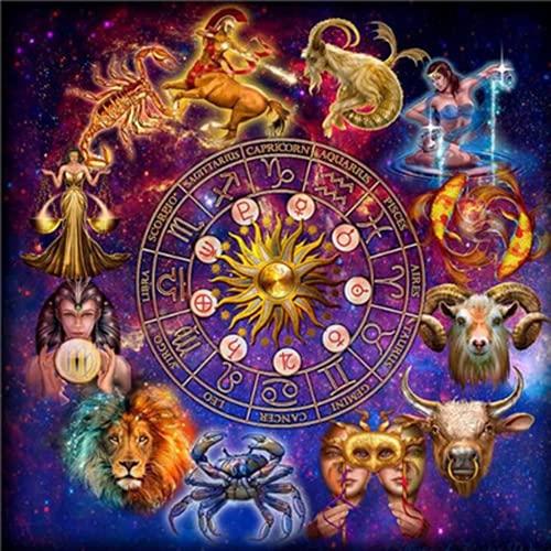 PHTDCQ Pintura De Diamantes Zodiaco Animal Artes Y Manualidades para Adultos 5D Bordado De Diamantes León Decoración del Hogar DIY Mosaico Imagen por Número Kit