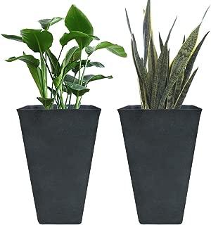 black clay planter