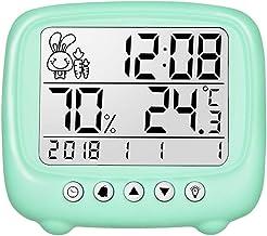 YIN YIN, higrómetro Temperatura, Inteligente Pantalla Digital termómetro electrónico de Humedad en seco y en húmedo Metros con recordatorio de expresión, 116x103x25mm (Size : 116x103x25mm)