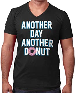 Brisco Brands Another Day Another Donut Funny Sweet Tooth V-Neck T Shirt