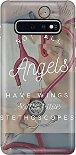 Not All Angels Have Wings Phone Case for Samsung Galaxy S10 Plus - Silicone Case with 3D Printed Design, Slim Fit, Anti Scratch, Shock Proof, IMD Soft TPU Cover Case