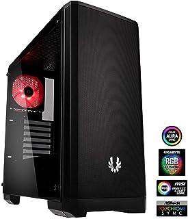 BitFenix Nova Mesh Tg Black Case BFC-NVM-300-KKGSK-RP EATX/ATX/Micro ATX/Mini ITX vidrio templado/Aura Sync Ventilador RGB