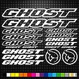 SUPERSTICKI Set Ghost Bikes Fahrräder 5-25cm Aufkleber,Autoaufkleber,Sticker,Decal,Wandtattoo, aus...