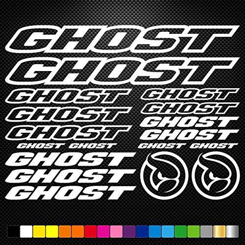 SUPERSTICKI Set Ghost Bikes Fahrräder 5-25cm Aufkleber,Autoaufkleber,Sticker,Decal,Wandtattoo, aus Hochleistungsfolie,UV&waschanlagenfest,