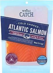 Whole Catch, Cold Smoked Farm-Raised Atlantic Salmon, 8 oz (Frozen)