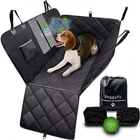 Doggyfy Auto Rücksitzabdeckung Autositzbezug Für Hunde Wasserdicht Kratzfest Rutschfest Haltbares Und Hoch Qualitatives Material Haustier